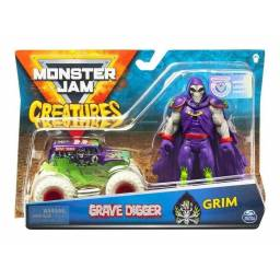 Monsetr Jam - Die Cast 1:64 + Figuras Grim 58731