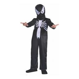 Spiderman Disfraz Negro con Luz 7- 8 Años Cad21401