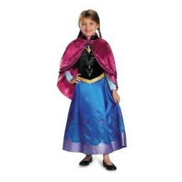 Frozen Disfraz Anna De Viaje Con Capa  7-8 Años 83192K