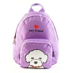 Pet Friends -  Mochila 25 Cm Bichon Violeta 91209v