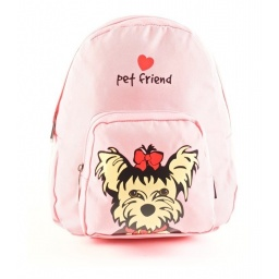 Pet Friends - Mochila 25 Cm Yorkie Rosa 91209r