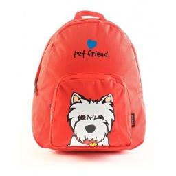 Pet Friends - Mochila 25 Cm Westie Roja 91202rn
