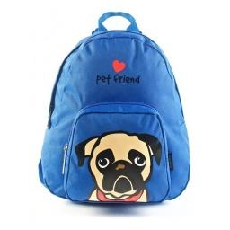 Pet Friends - Mochila 25 Cm Pug Azul91209a
