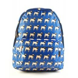 Pet Friends - Mochila Teen 40 cm Pug Azul 91208a
