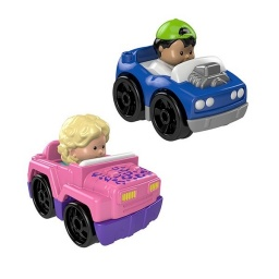 Fisher Price - Little People Wheelies Packx2 Hot y Rod Drh01-fhl08