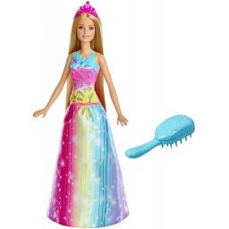 Barbie Fantasy Princesa Peina Y Brilla Frb12