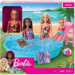 Barbie- Estate, Piscinacon Muñeca- Ghl91