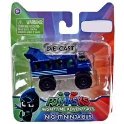 PJ MASKS - Vehículos die cast 24845 Bus Nunja Nocturno