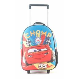 Mochila Infantil CARS  30 cm con Carro Básica 81313