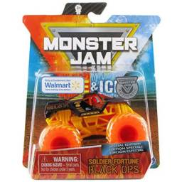 MONSTER JAM - Vehiculos 1:64 Fire &Walmart Soldier 58709