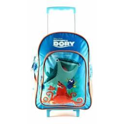 Mochila Infantil Buscando A Dory  40 cm Con Carro Azul 89403