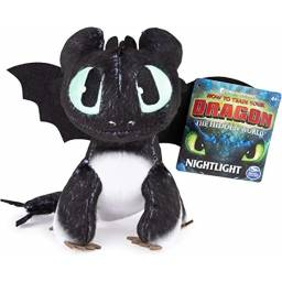 Dragons Peluche 66606 Nightlight Negro