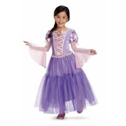 DISNEY PRINCESAS - Disfraz Rapunzel Deluxe 7 A 8 AÑOS 98487K