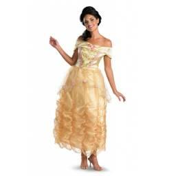 DISNEY PRINCESAS - Disfraz Bella Deluxe Adulto TALLE L/G 50501E