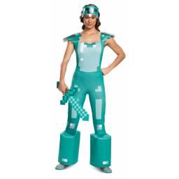 MINECRAFT ARMOR - Disfraz Dama Adulto TALLE L 15069E