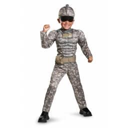 GENERICOS - Disfraz Militar con Musculos 3 A 4 AÑOS 89763M