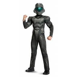 HALO - Disfraz Spartan Buck con Músculos 4 A 6 AÑOS 24396L