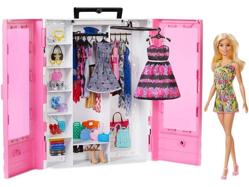 Barbie - Closet De Lujo Con Muñeca - Gbk12