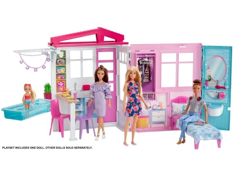 Barbie - Nueva Casa Glam Con Muñeca - Fxg55
