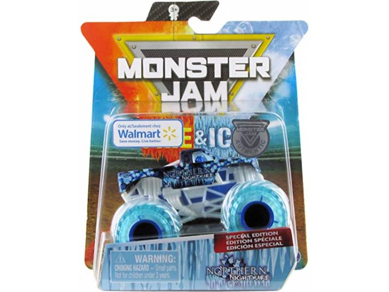 MONSTER JAM - Vehiculos 1:64 Fire &Walmart Northern  58709